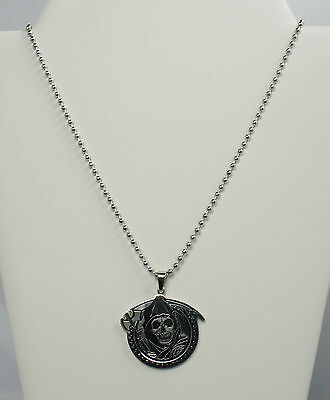 Authentic SONS OF ANARCHY Grim Reaper Gunsickle Pendant With Ball Chain NEW