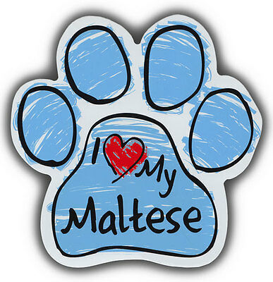 Scribble Paw Dog Magnets: I LOVE MY MALTESE | Cars, Trucks, Refrigerators