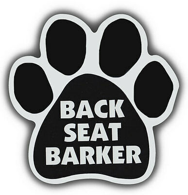 Dog Paw Shaped Magnets: BACK SEAT BARKER | Cars, Trucks, Refrigerators