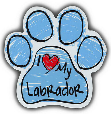 Scribble Paw Dog Magnets: I LOVE MY LABRADOR RETRIEVER | Cars, Refrigerators