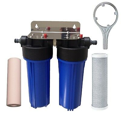 Caravan Camp Outdoor Boat Water Filter | 5uM Spun + 5uM Carbon Filters CVL-S5C5