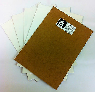 5x A4 ARTIST BLANK PRIMED PAINTING CANVAS BOARD ACRYLIC & OIL ART sheared edges