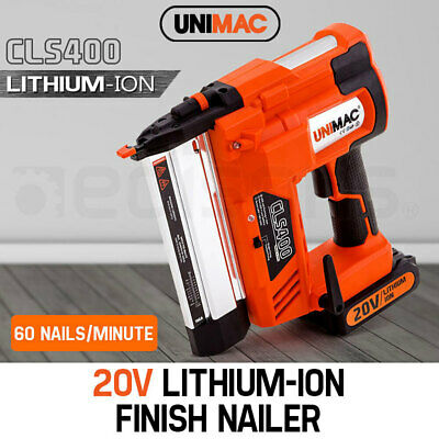 NEW Unimac Finish Nailer 20V Lithium 16ga Brad Nailer Cordless Nail Gun