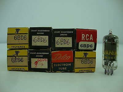 6Bd6 Tube. Mixed Brands.  Nos & Nib. Rc92.