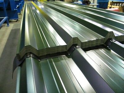 Yard Stock 3m x 1m Cover Colour Coated Metal Box Profile Roofing Sheets PVC