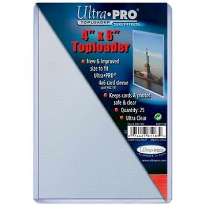 50 Ultra Pro 4x6 Postcard Photo Hard Rigid Ultra Clear Toploader FREE SHIPPING
