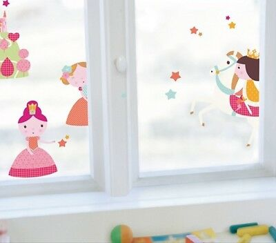 Kinder Fenstersticker Prinzessinnen Märchen Homesticker Fensterfolie Sticker
