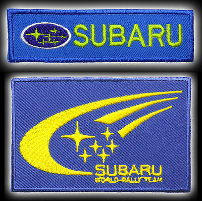 SUBARU STI / RALLY CARS Marque Iron-On / Sew-On Patch Collection - NEW