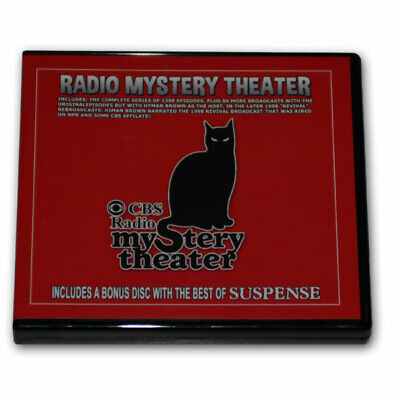 CBS RADIO MYSTERY THEATER OTR-5 DVD w 1399 mp3 episodes + BEST OF SUSPENSE