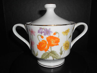 Wild Flower By Fine China Of Japan Sugar Bowl