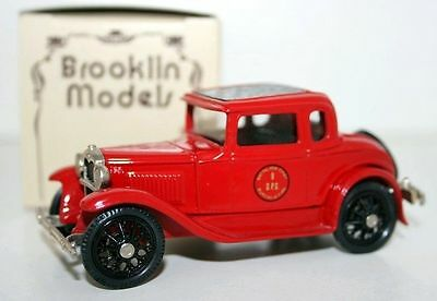 BROOKLIN 1/43 BRK5A 005 - 1930 FORD MODEL A COUPE PHILADELPIA BATTALION CHIEF