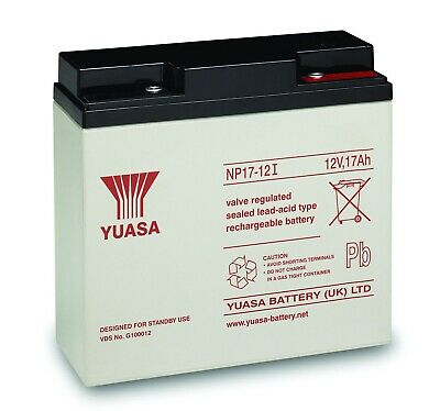 YUASA NP17-12 Sealed Valve Regulated Lead-Acid Battery SLA 12V 17.0Ah 180642