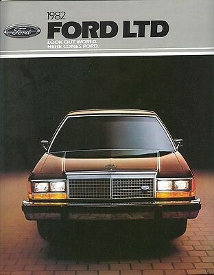 1982 Ford LTD Sales Brochure - Mint!