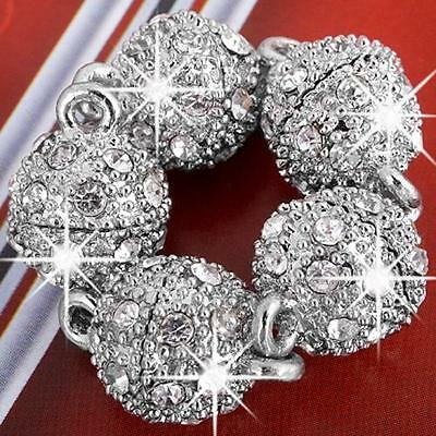 10mm Round Bead Rhinestone Magnetic Clasp Jewelry Making  Findings FASHION 5x