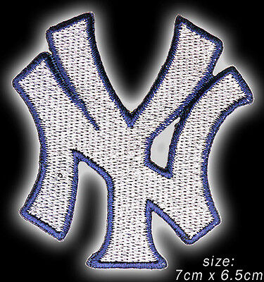 "NEW YORK YANKEES ""NY"" Logo- Embroidered Iron-On / Sew-On Patch - NEW - #2X11"