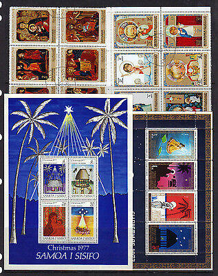 CHRISTMAS Thematic Minisheets & Blocks Mint & Used Ref: AZMT207