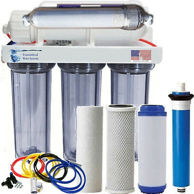 Alkaline Remineralizer Reverse Osmosis Water Filter Clear Core System 100 GPD