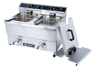 ADCRAFT DF-12L/2  Double  Electric Commercial Deep Fryer