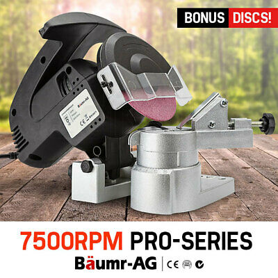 NEW Baumr-AG 320W Chainsaw Sharpener Chain Saw Electric Grinder File Pro Tool