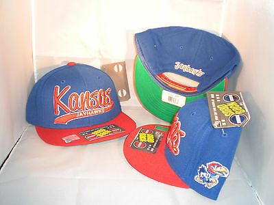KANSAS JAYHAWKS BLUE N RED SCRIPT CLASSIC SNAPBACK HAT BY TOP OF THE WORLD