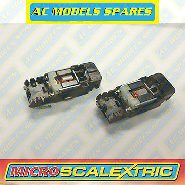 Micro Scalextric Spare F1 Chassis, Motor & Guide x2