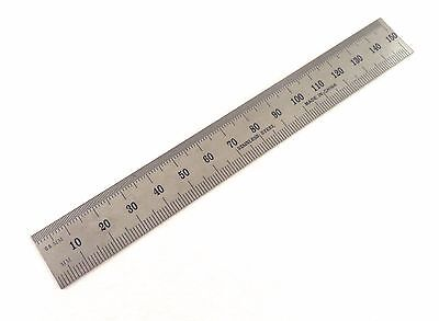 "Igaging Machinist Ruler 6""/150mm English / Metric E/M Stainless 1/32"" 1/64th mms"