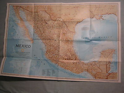A TRAVELER'S MAP OF MEXICO National Geographic September 1994 MINT