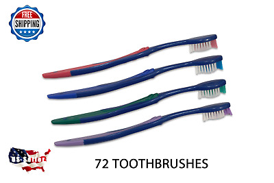 72 Premium Dr Fresh Prepasted Toothbrush Disposable Individually Wrapped