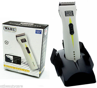Wahl Super Cord/Cordless Rechargeable Pro Hair Grooming Clipper Set 1872-0475