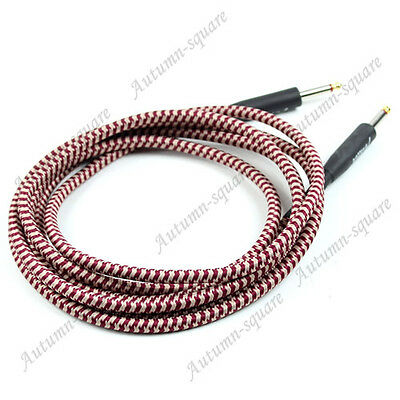 3M Woven Guitar Cable Cord Lead For Fender Cable Braided Instrument Red