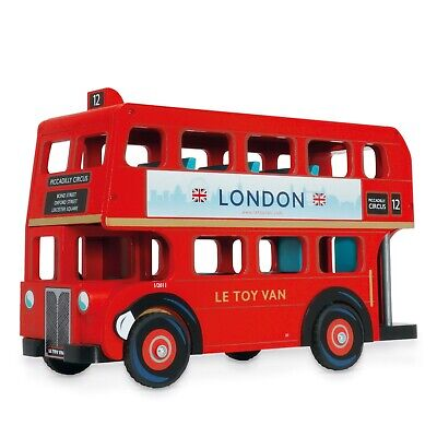 New Le Toy Van London Bus with Driver Budkin Doll