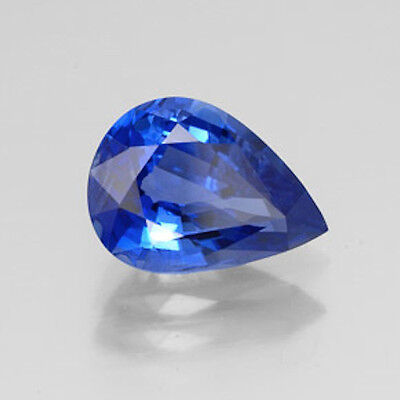 Masterpiece Collection: Pear Genuine (Natural) Bright Blue Sapphire (5x3-6x4mm)