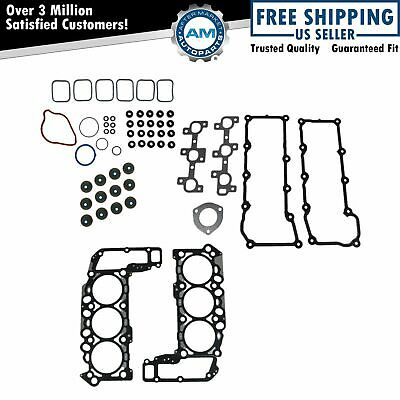 Engine Head Intake Exhaust Manifold Gasket Kit Set for Dodge Truck Jeep 3.7L V6
