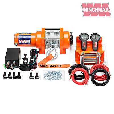 ELECTRIC WINCH 12V ATV BOAT TRAILER 3000 lb WINCHMAX WIRELESS