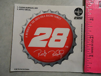 Coca-Cola Racing Family Sticker Decal Ricky Rudd & Yates Racing 28 2001 NASCAR