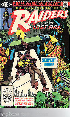 Raiders Of The Lost Ark # 2 Marvel Comics 1981 Fine / Very Fine. FREE SHIIPPING