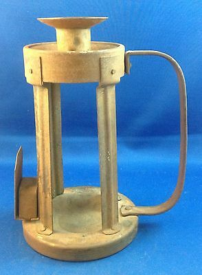 German Germany Arts & Crafts Movement Metal Candle Holder W/ Match Box Holder