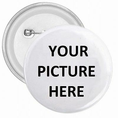 "1"" Pinback Button Pin Custom Personalized YOUR PICTURE PHOTO LOGO"