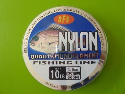 10lb 500m spool RED Colour DFS QUALITY Monofilament Mono Nylon Fishing Line