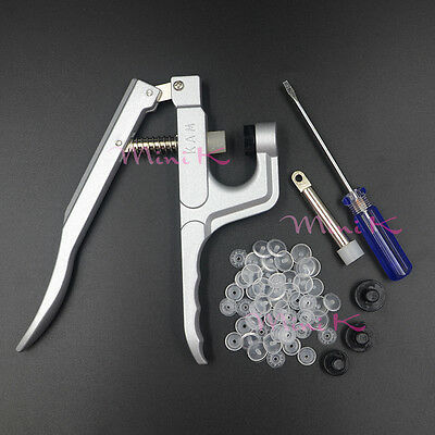 Clear Plastic Snaps Fasteners Snap Pliers Kit Buttons Fastener Press Studs