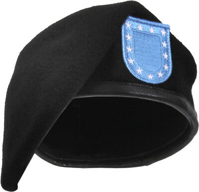 ac2f09c4a160f NEW US MILITARY Army USAR Garrison Collection Black Beret with Flash ...