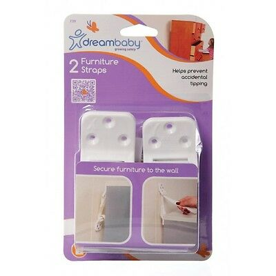 Brand New Dreambaby Furniture Wall Straps 2PK Baby Safety Dream