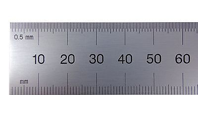PEC USA 450mm Rigid Satin Metric Machinist Rule /Rule Scale .5mm & mm both sides
