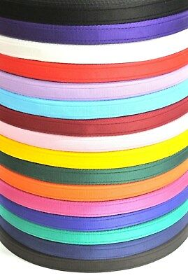 25mm Cushion Webbing 16 Colours Bags Straps Leads Craft x2 x5 x10 x25 x50 Metres