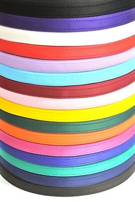 x2,x5,x10,x25,x50 Metres Cushion Webbing In 16 Colours 25mm Bags,Straps,Leads