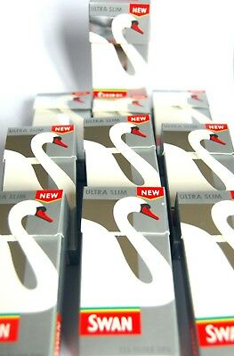 1200 Swan Filter Tips NEW ULTRA SLIM SILVER BOX 10 Boxes New & Fresh