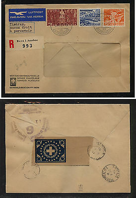 Switzerland   nice registered cover with seal on back                SSS0404