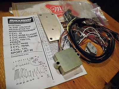Mercury Marine Quicksilver 815279A4 16 Amp Voltage Regulator Kit 2 3 4 Cyl Force