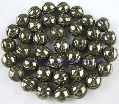 Carved 100% Natura 10mm Watermelon Pyrite Loose Gemstone Beads 15''