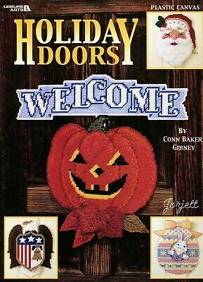 Holiday Doors plastic canvas patterns OOP